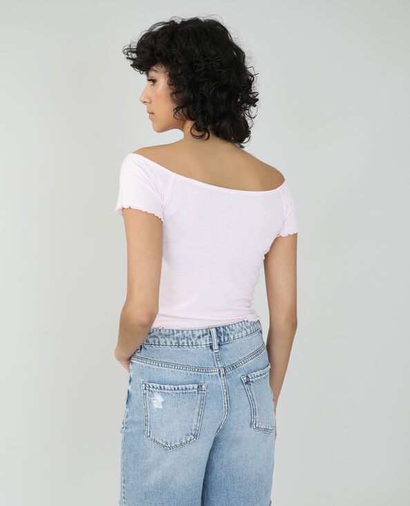 Top a coste rosa - Pimkie