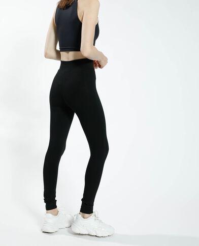 Leggings con cintura incrociata nero - Pimkie