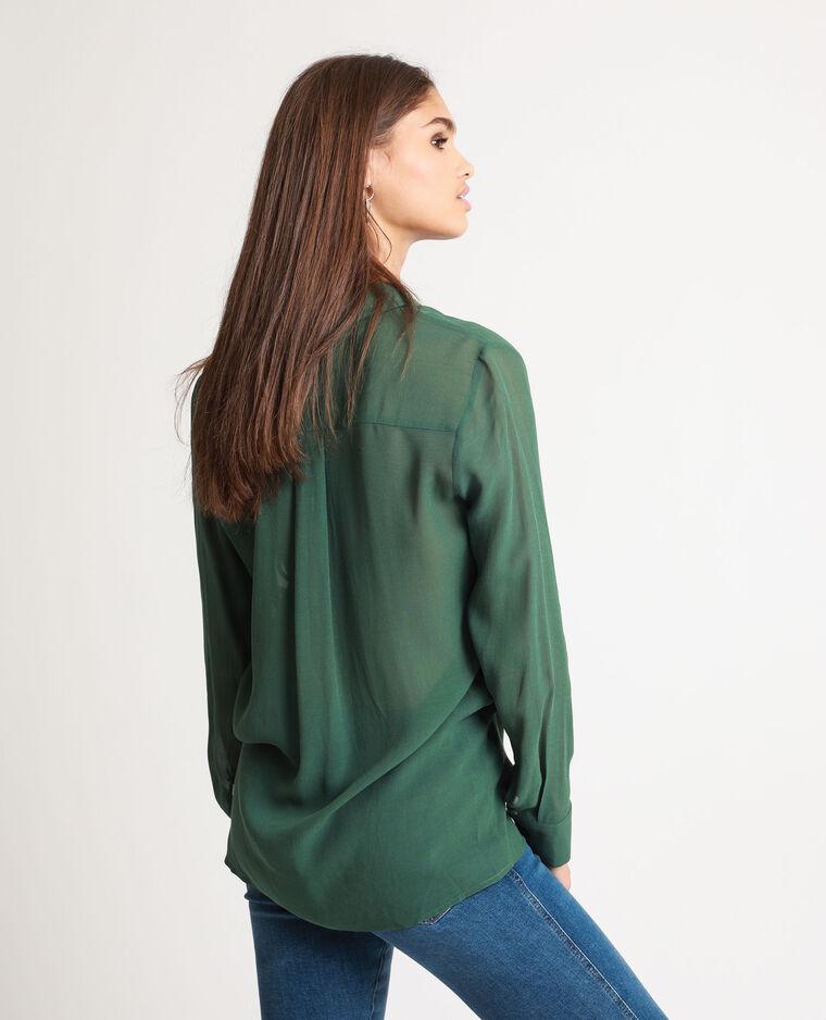 Camicia lunga verde