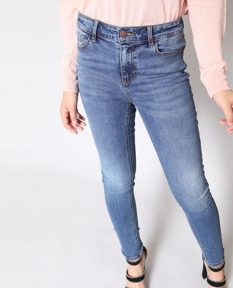 Jeans skinny mid waist blu denim