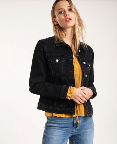 Giacca in jeans nero