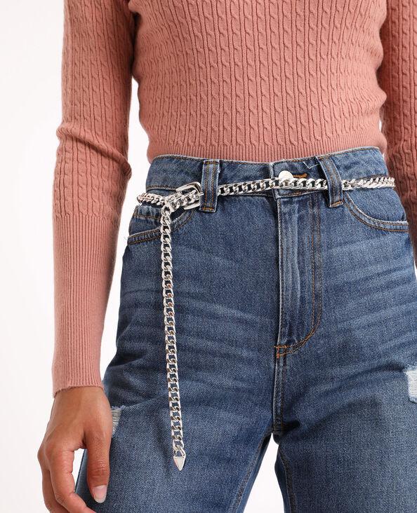Cintura a catena grigio