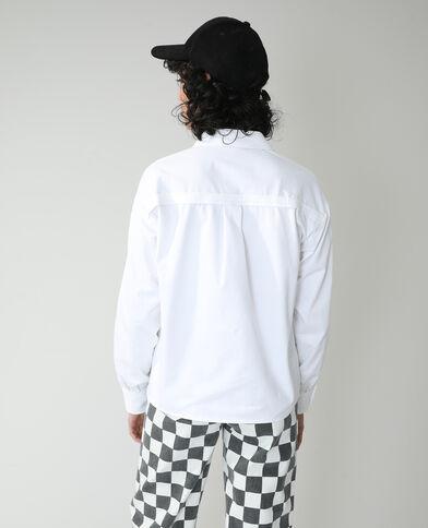 Camicia con bottoni a pressione bianco - Pimkie