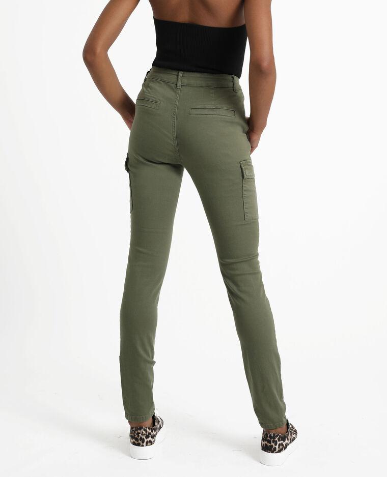Pantalone skinny con tasche verde