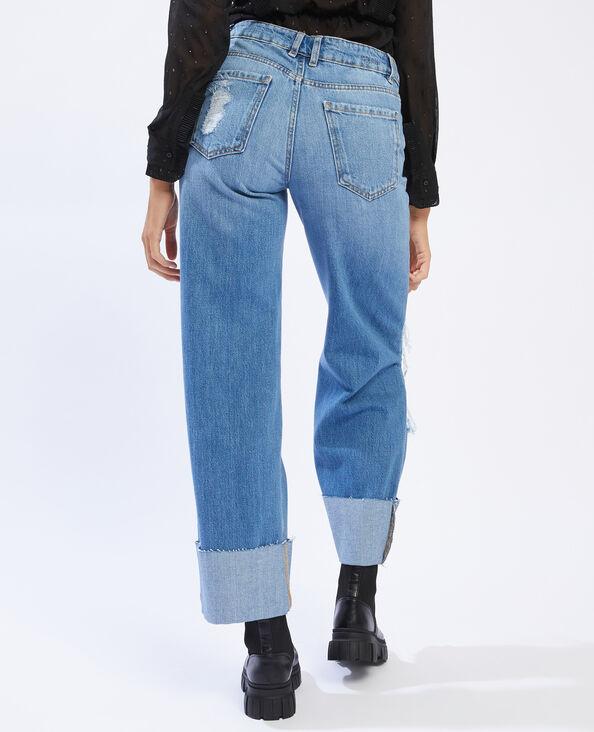 Jeans baggy effetto used blu denim - Pimkie