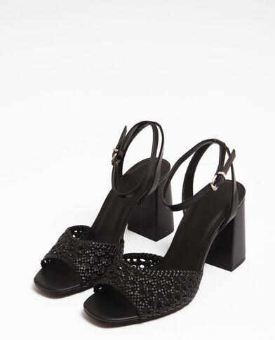 Sandali traforati nero