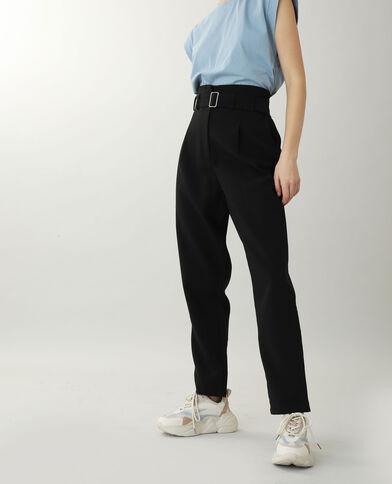 Pantalone a vita alta nero