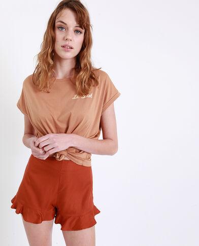 T-shirt Le Sud marrone