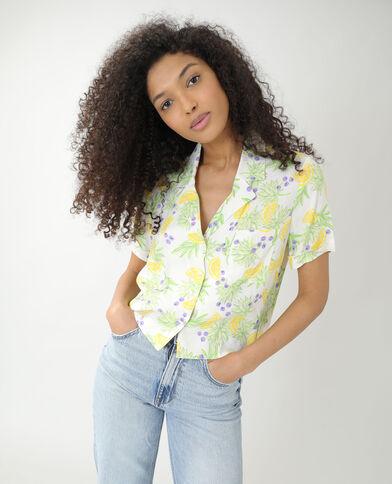 Camicia ampia con limoni bianco - Pimkie