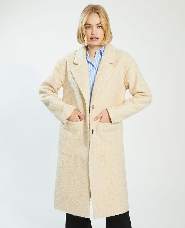 Cappotto lungo bouclé beige - Pimkie