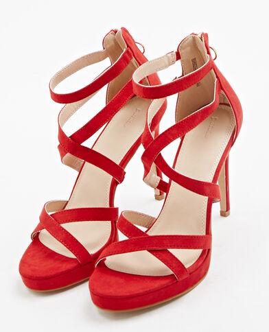 Sandali con tacchi a spillo rosso