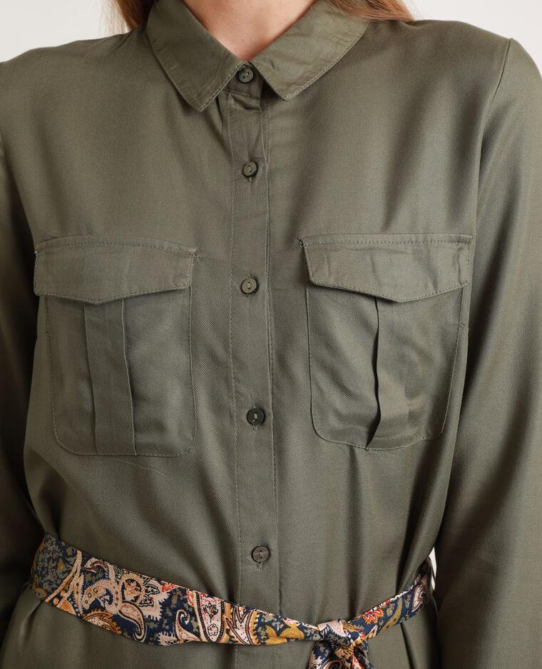Abito camicia morbido verde