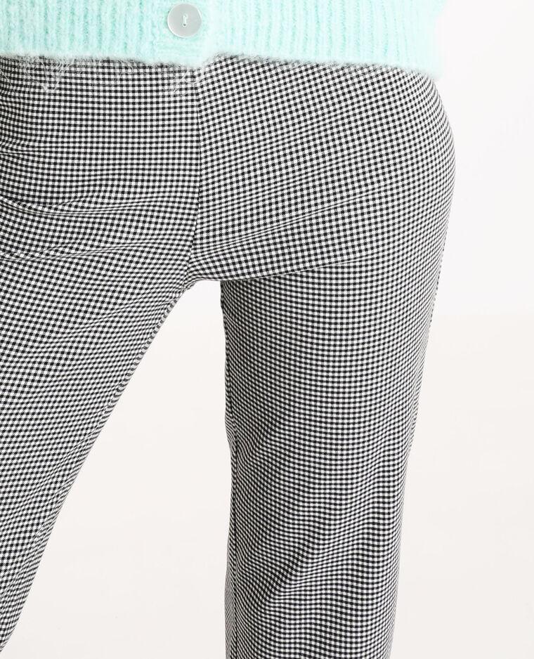 Pantalone sottile a quadri nero