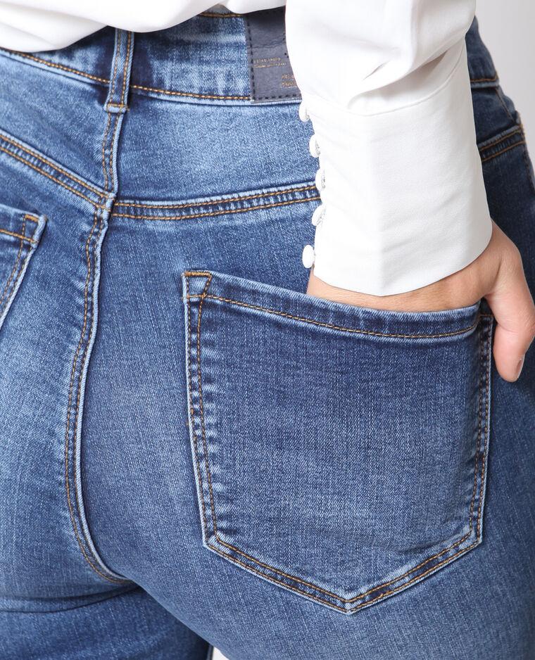 Jeans skinny a vita alta blu denim
