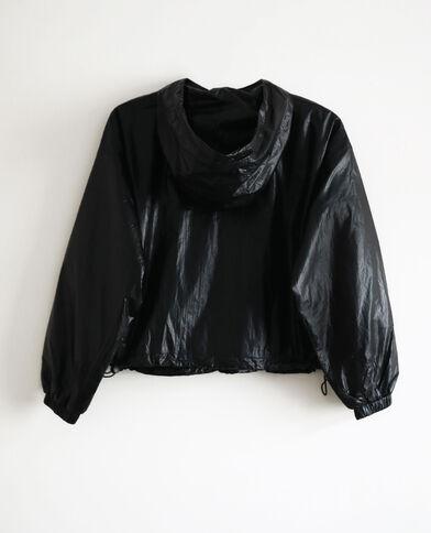Giacca a vento con cappuccio nero