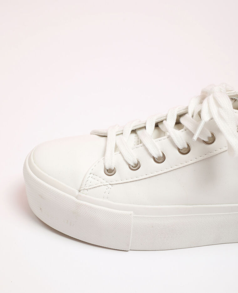 Scarpe sportive in finta pelle bianco - Pimkie
