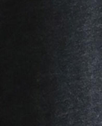 Abito con cintura in tessuto riciclato nero
