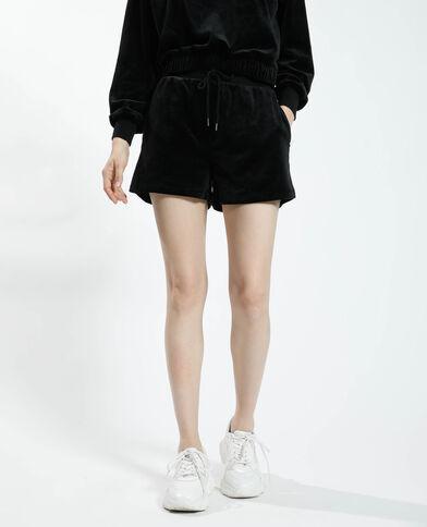 Short in velluto nero - Pimkie