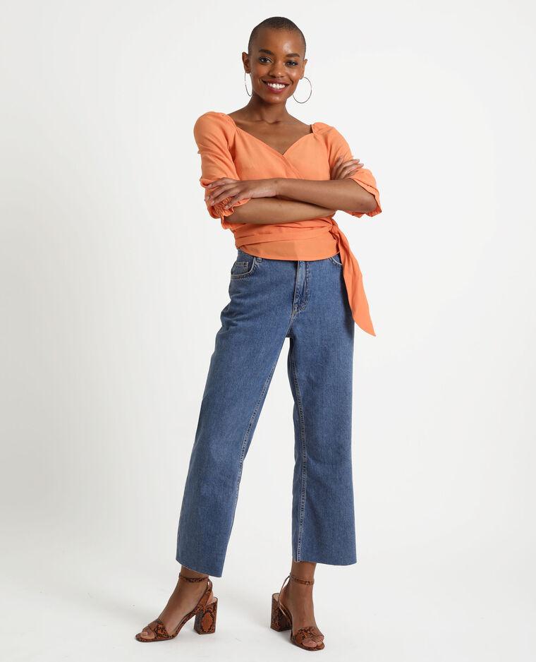 Camicia cache-cœur arancio