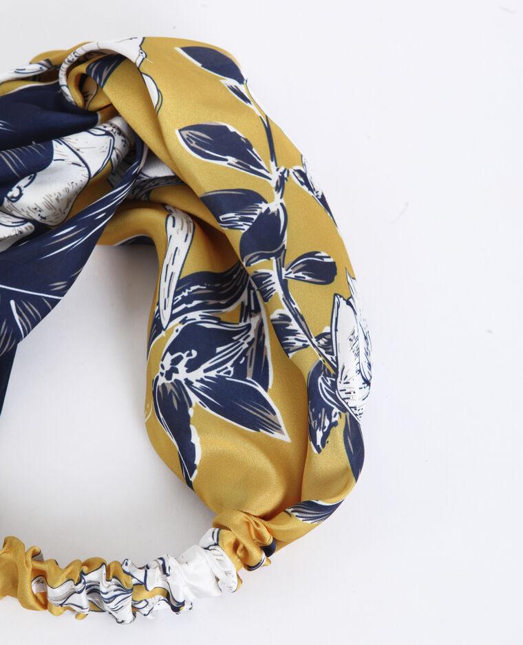Headband satinata giallo