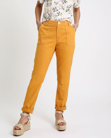 Pantalone da carpentiere giallo