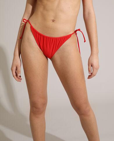 Slip di costume da bagno convertibile rosso