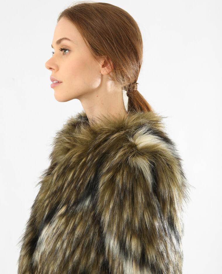 big sale 96f8a 61d7a Cappotto corto in pelliccia ecologica