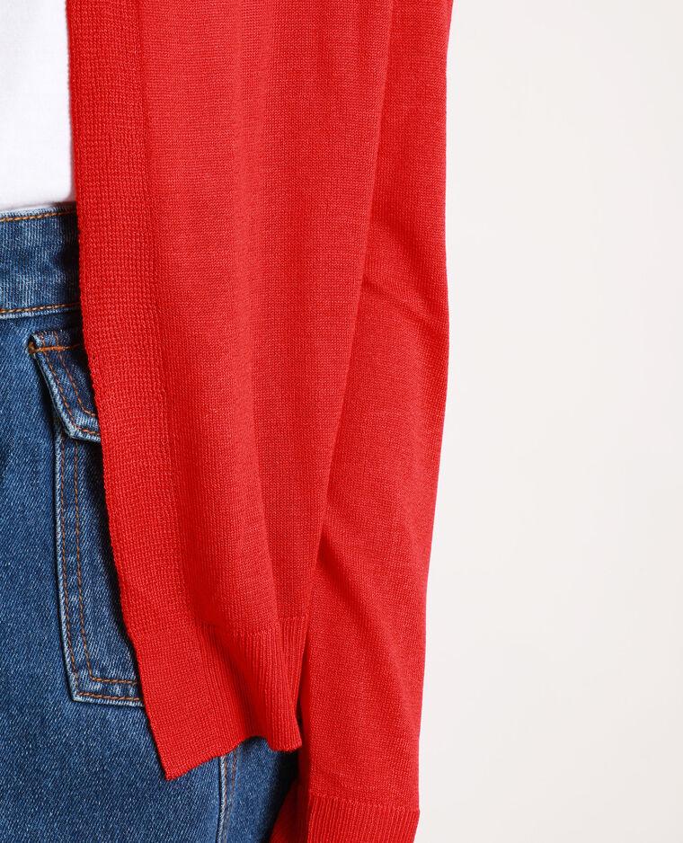 Cardigan in maglia sottile rosso