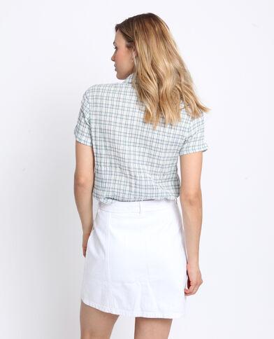 Camicia a quadri bianco