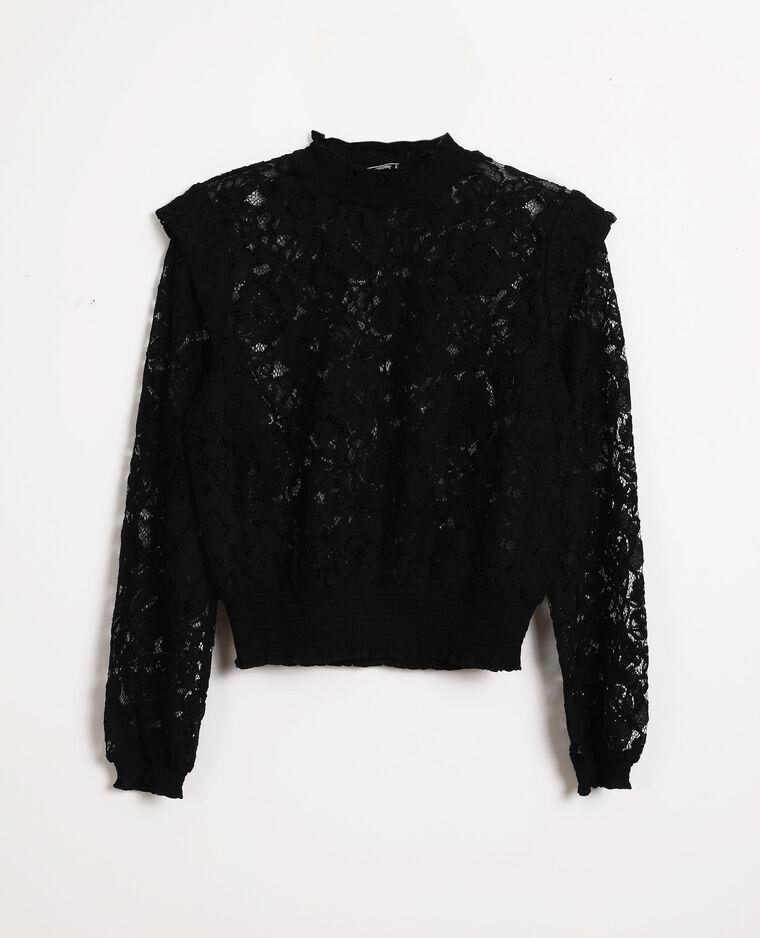 Camicia in pizzo nero
