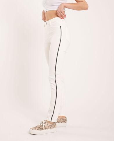 Jeans skinny con strass bianco