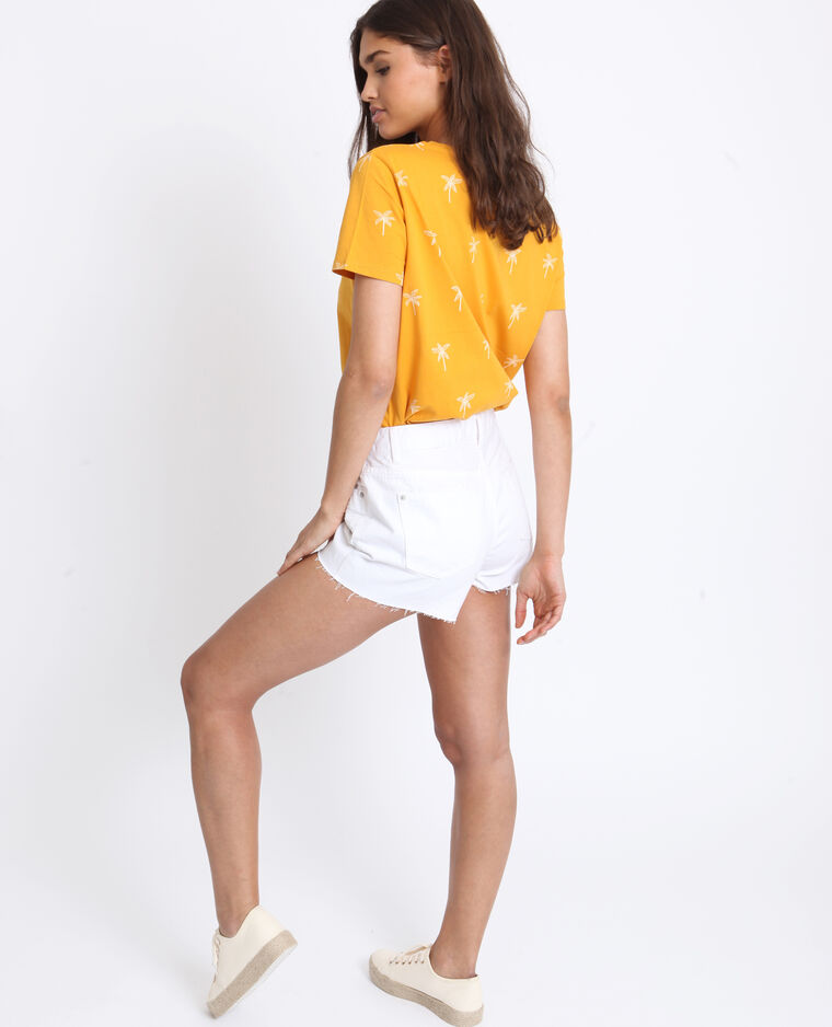 Short in jeans mid waist bianco