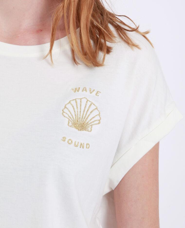 T-shirt conchiglia bianco sporco