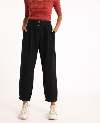 Pantalone slouchy nero