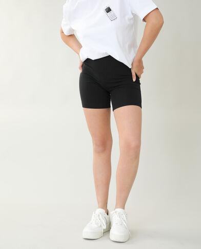 Pantaloncini in stile ciclista nero