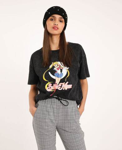 T-shirt Sailor Moon grigio antracite