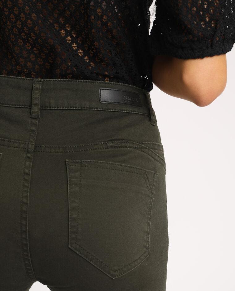 Skinny push up mid waist kaki - Pimkie