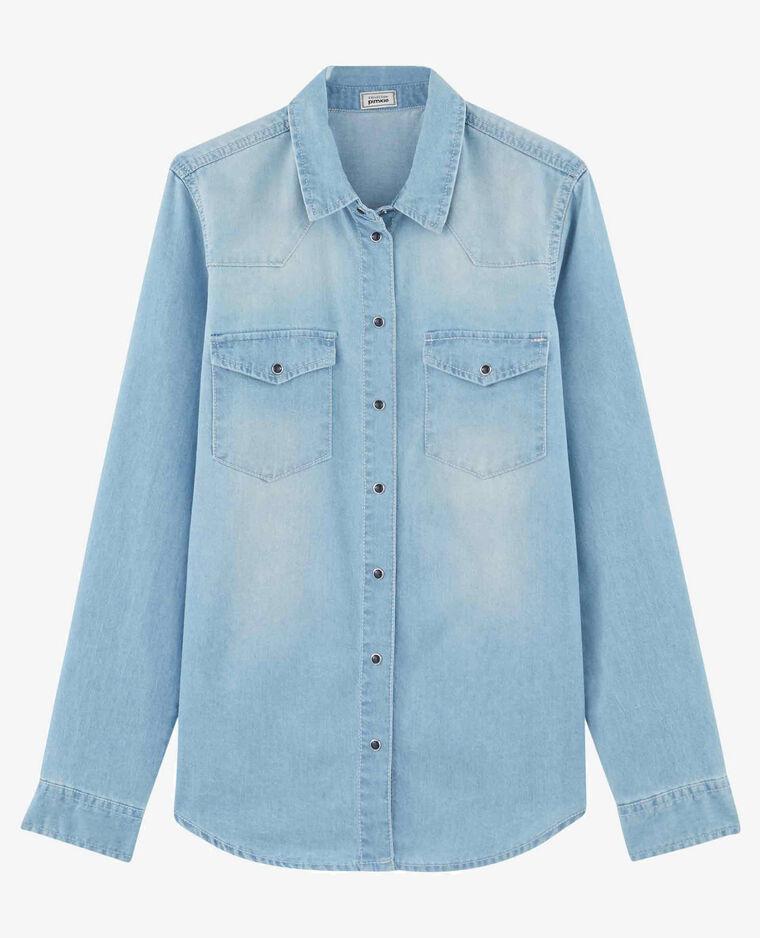 Camicia in jeans blu chiaro
