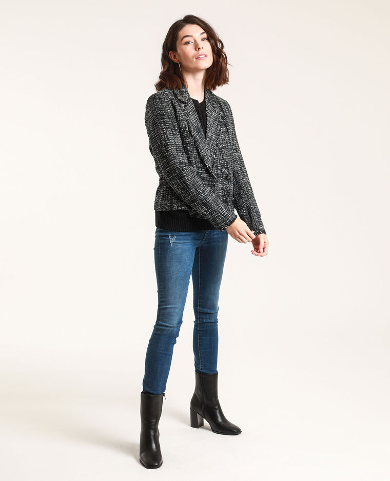Giacca in tweed nero - Pimkie