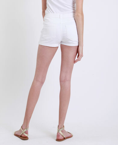 Short in jeans bianco