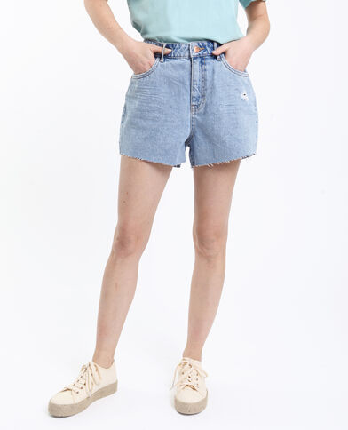Short in jeans high waist blu delavato