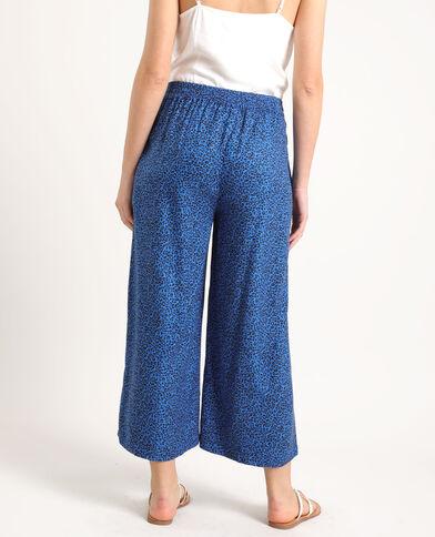 Pantalone morbido stampato nero