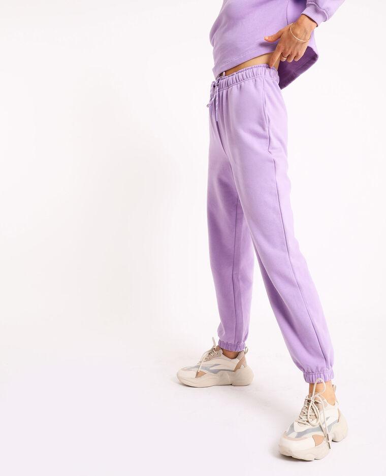 Pantalone da jogging in tessuto felpato parme