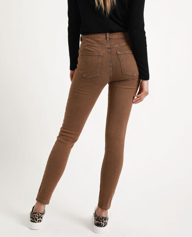 Jeans skinny middle waist caramello