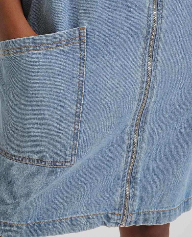 Abito scamiciato in jeans blu grezzo