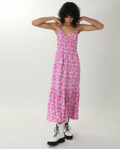 Abito lungo a fiori rosa - Pimkie