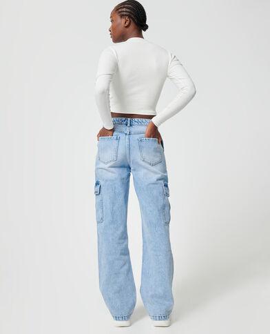 Jeans cargo blu chiaro - Pimkie