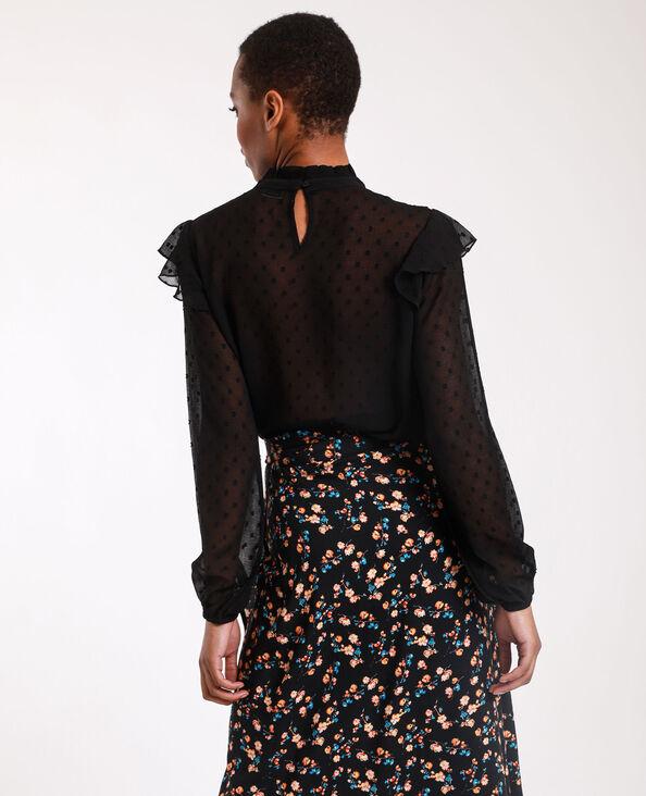 Camicia in plumetis nero
