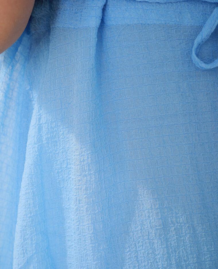 Abito goffrato blu - Pimkie