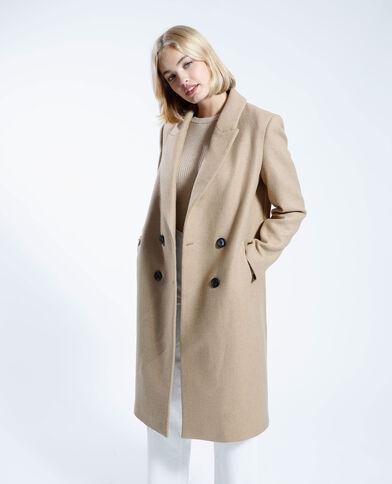 Cappotto lungo con lana cammello - Pimkie